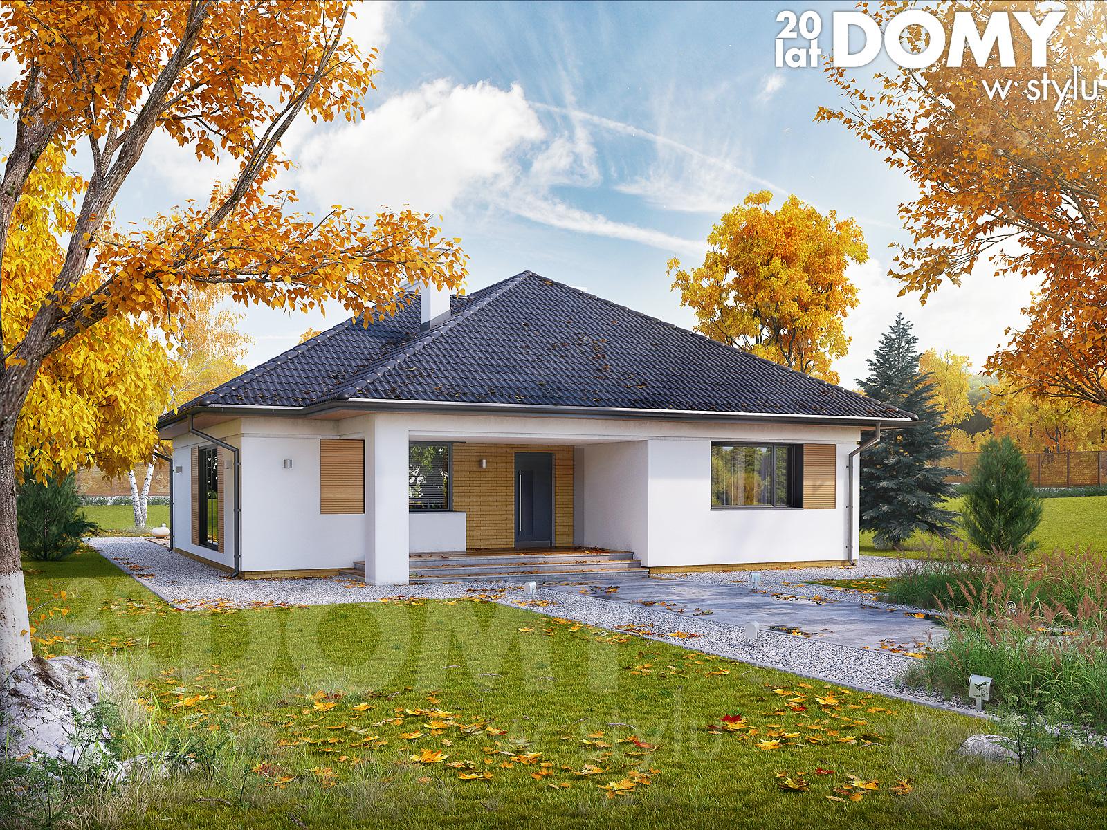 projekty domów jednorodzinnych parterowych