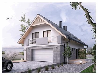 projekty domów z garażem